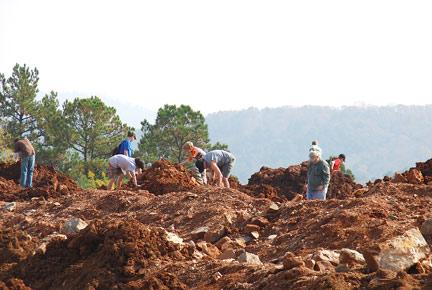 Miller Mountain Quartz Mine, Arkansas - James Johnson 2009
